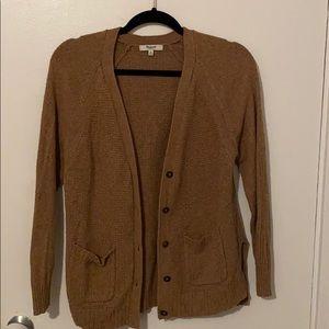 Madewell tan button cardigan sweater size M
